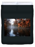 Autumn Morning By Wissahickon Creek Duvet Cover