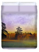 Autumn Morning Mist Duvet Cover by Judi Bagwell