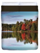 Autumn Nature Lake And Trees Duvet Cover