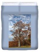 Autumn Oaks White Clouds Duvet Cover