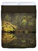Autumn On The Pond Duvet Cover