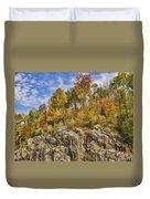 Autumn On The Rocks Duvet Cover
