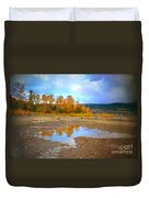 Autumn Puddles Duvet Cover