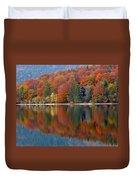 Autumn Reflections On Lake Bohinj In Slovenia Duvet Cover