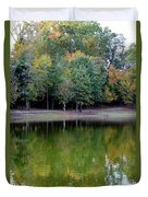 Autumn Reflections Upon Dark Waters Duvet Cover