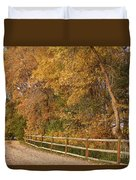 Autumn  Road To The Ranch Duvet Cover