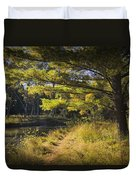 Autumn Scene Of The Little Manistee River In Michigan No. 0882 Duvet Cover
