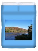 Autumn Scenery Along The Grand River Duvet Cover