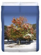 Autumn Snow Duvet Cover