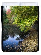 Autumn Tree Colors In Central Park In New York City Duvet Cover