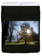 Autumn Tree In Backlight Duvet Cover