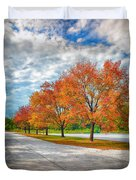 Autumn Trees At Busch Duvet Cover