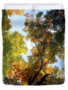 Autumn Trees Low-angle Duvet Cover