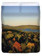 Autumn View Across Baxter State Park Duvet Cover