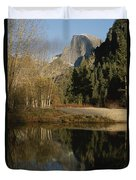 Autumn View Of The Park With Half Dome Duvet Cover