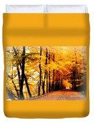 Autumn Walk In Belgium Duvet Cover