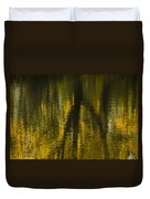 Autumn Water Reflection Abstract I Duvet Cover