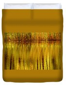 Autumn Water Reflection Abstract II Duvet Cover