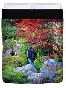 Autumn Waterfall - Digital Art Duvet Cover