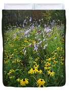 Autumn Wildflowers - D007762 Duvet Cover by Daniel Dempster