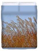 Autumn Wind Through The Grass Duvet Cover