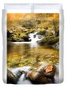 Autumnal Stream Duvet Cover by Mal Bray