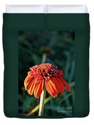 Autumn's Cone Flower Duvet Cover