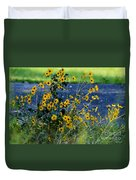 Autumn's Gold At The Lake Duvet Cover