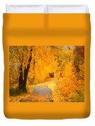 Autumn's Golden Corner Duvet Cover