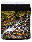 Autumn's Staircase Duvet Cover by Mike  Dawson