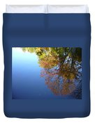 Autumn's Watery Reflection Duvet Cover
