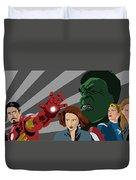 Avengers Assemble Duvet Cover by Lisa Leeman