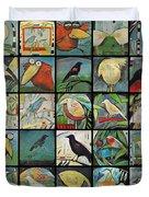 Aviary Poster Duvet Cover