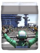 Aviation Boatswain's Mate Signals Duvet Cover