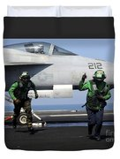 Aviation Boatswain Mates Signal A Clear Duvet Cover