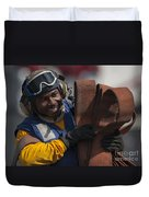 Aviation Boatswains Mate  Carrying Duvet Cover