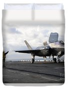 Aviation Boatswains Mate Signals Duvet Cover