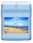 Avon Beach At Mudeford In Dorset Duvet Cover