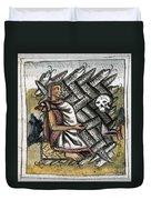 Aztec: Life And Death Duvet Cover