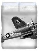 B25 In Flight Duvet Cover by Greg Fortier