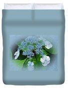 Baby Blue Lace Cap Hydrangea Duvet Cover