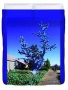 Baby Blue Tree Duvet Cover