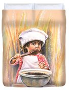 Baby Cook With Chocolade Cream Duvet Cover