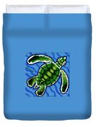 Baby Green Sea Turtle Duvet Cover