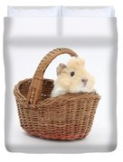 Baby Guinea Pig In A Wicker Basket Duvet Cover