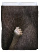 Baby Orangutan Grasping Mother's Fur Duvet Cover