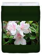 Baby Pink Azaleas Duvet Cover