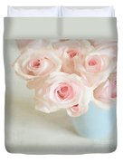 Baby Pink Roses Duvet Cover by Lyn Randle