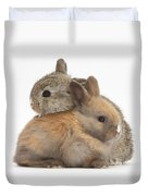 Baby Rabbits Duvet Cover