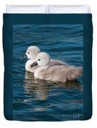 Baby Swans Duvet Cover